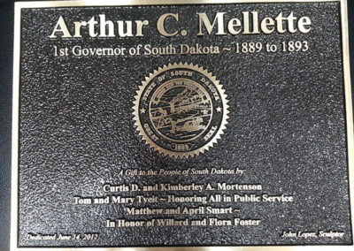 Gov. Arthur Mellette Plaque