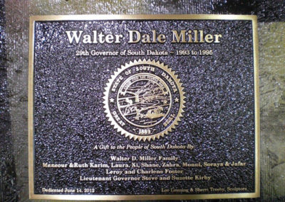 Governor Walter D.  Plaque