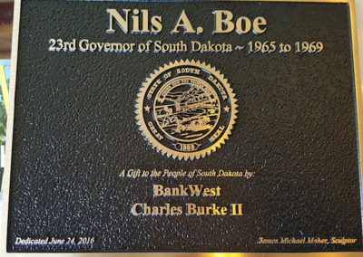 Governor Nils Boe Plaque