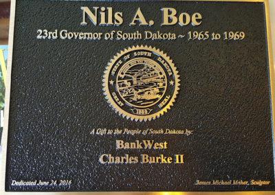 Gov. Nils Boe Plaque