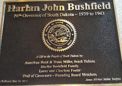 Governor Harlan J. Bushfield Plaque