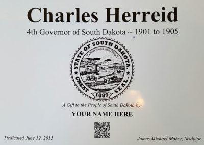 Governor Charles Herreid Plaque