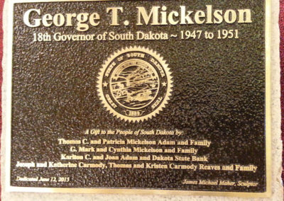 Governor George T. Mickelson Plaque