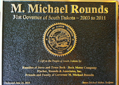 Governor M. Michael Rounds Plaque