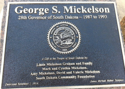 Governor George S. Mickelson Plaque