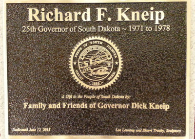 Governor Richard Kneip Plaque