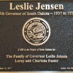 Leslie Jensen Plaque