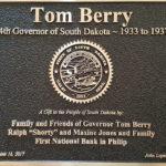 Tom Berry Plaque
